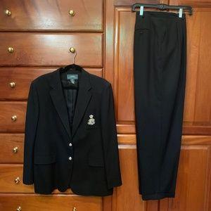 Ralph Lauren crested blazer with matching pants